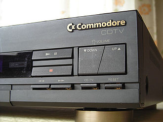 Commodore CDTV - Close-up detail of the CDTV buttons.