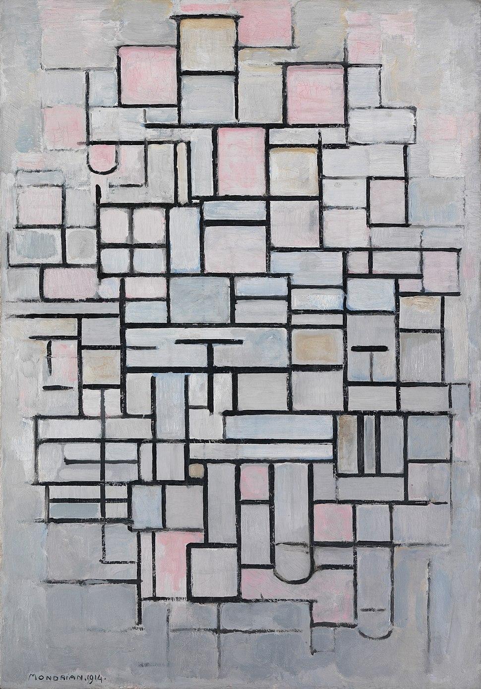 Composition No IV, by Piet Mondriaan