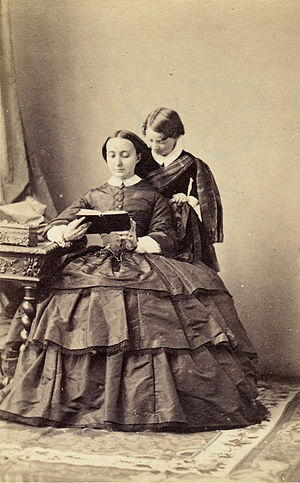 Giuseppe Primoli - Giuseppe Primoli and his mother, Charlotte Bonaparte, 1859.