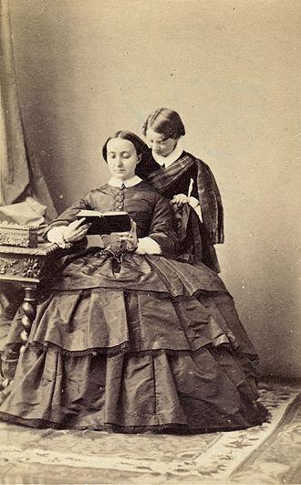 Giuseppe Primoli - Giuseppe Primoli and his mother, Charlotte Bonaparte, 1859.
