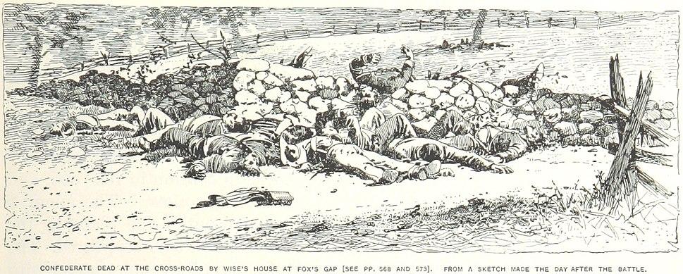 Confederate dead at Fox%27s Gap