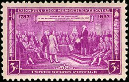 President, Constitutional Convention, issue of 1937 3c