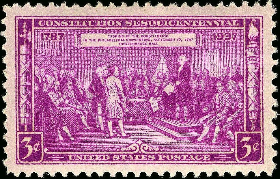 Constitution Sesquicentennial 1937 Issue-3c