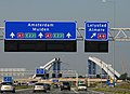 Construction of a new railwaibridge across the A1 motorway Muiden - panoramio.jpg