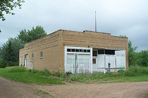 Conway, North Dakota - An old service station in Conway