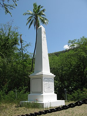 Enclave and exclave - Land for the Captain Cook Monument was deeded outright to the British Government by the independent nation of Hawaii in 1877.
