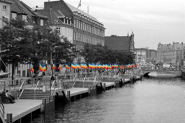 anti-war demonstration at Copenhagen's Christiansborg Slotsplads