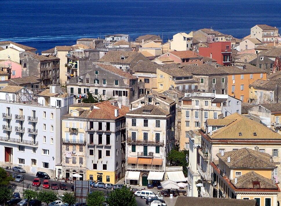 Corfu venetian quarter overview bgiu