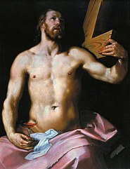 Christ holding the Cross and a Chalice