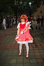 Cosplayer of Sakura Kinomoto, Cardcaptor Sakura in FF24 20140726 2.jpg