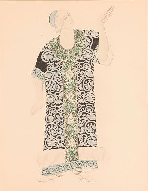"Raoul Gunsbourg - Costume design for ""Ivan le Terrible"" by Leon Bakst (1911)"
