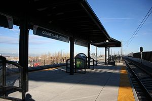 County Line station (RTD) - The County Line station in Lone Tree, Colorado.