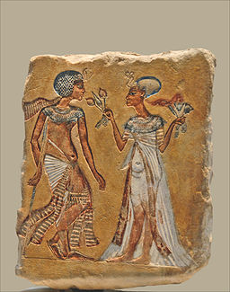 Couple royal dans un jardin (Neues Museum, Berlin) (6098971245)