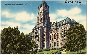 Schuylkill County, Pennsylvania - Image: Court house, Pottsville, Pa (68642)