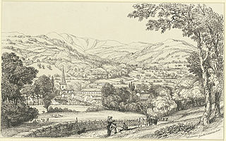 Crickhowel from the Langenni Road