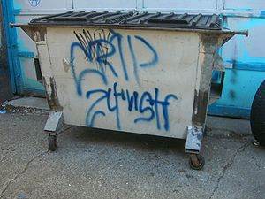 Crips - Crip graffiti tag in Olympia, Washington