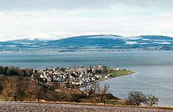 Utsikt over fjorden og Cromarty. Foto: Bob Jones