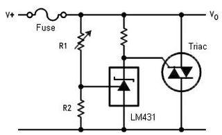 Crowbar (circuit) Type of electrical circuit