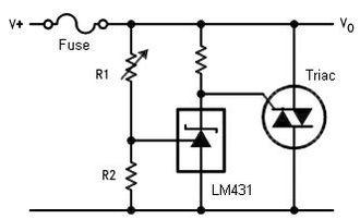 Crowbar (circuit) - Image: Crowbar Circuit