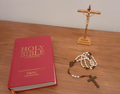 Crucifix, Rosary and Holy Bible with Apocrypha NRSV.png