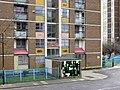 Cruddas Park tower block (detail) - geograph.org.uk - 1750569.jpg