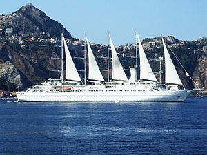 Cruise ship Wind Surf - Giardini-Naxos - Sicily, Italy - 28 July 2009.jpg