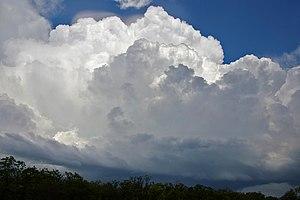 English: Cumulonimbus cloud with Pileus in the...