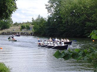 Cutter (boat) - Cutter race at Sunbury Amateur Regatta