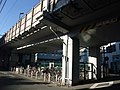 Cycle park on Tokaido Shinkansen viaduct in Tsunashima.jpg