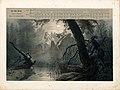 """Düsseldorfer Lieder-Album, Arnz & Co. 1851, S. 9 – """"Der stille Grund"""", Gedicht von Joseph von Eichendorff, Komponist Ferdinand Hiller, Farblithografie nach Illustration von Oswald Achenbach.jpg"""