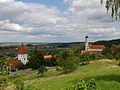 D-7-79-184-6 und D-7-79-184-7 Moenchsdeggingen Evang-Kirche und-Klosterkirche von-Sued 03.jpg