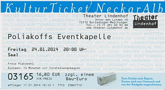 Theater Lindenhof - Entrance ticket
