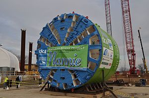 District of Columbia Water and Sewer Authority - Cutting head of a tunnel boring machine used in the Clean Rivers Project