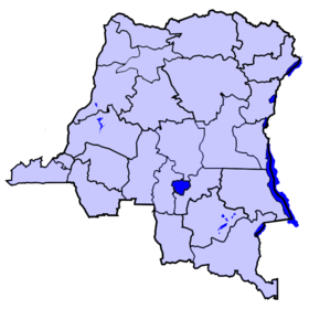 Localisation du district de Tshilenge