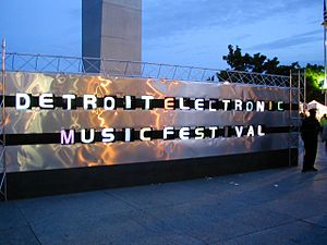 Detroit Electronic Music Festival - Movement Electronic Music Festival front display
