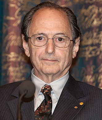 Michael Levitt - Levitt during the Royal Swedish Academy of Sciences press conference in Stockholm in December 2013