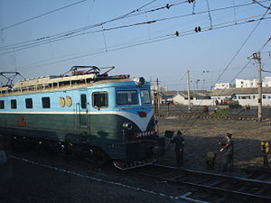 Korean reunification - A train in North Korea. Infrastructure is often of poor standard.