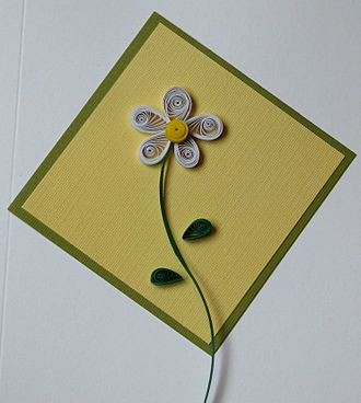 Quilling - Daisy Card