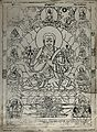 Dalai Lama sitting on a lotus surrounded by Buddhist figures Wellcome V0046072.jpg