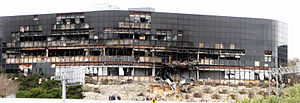 2010 Austin suicide attack - Panorama of the building the day after the plane crash