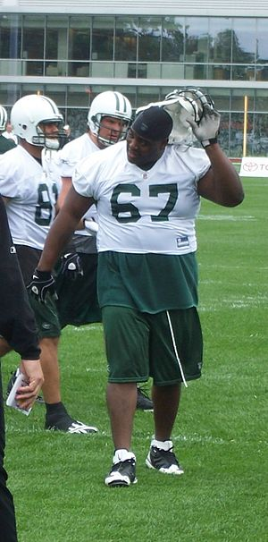 Damien Woody - Woody at a June 2009 New York Jets mini-camp