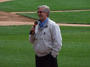 Dan Dickerson - Dickerson talking to fans at Comerica Park in 2011.