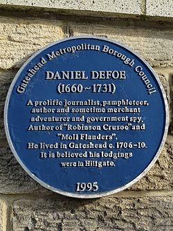 Daniel defoe (gateshead)
