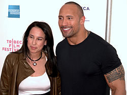 Dany Garcia and Dwayne The Rock Johnson 2009 Tribeca.jpg