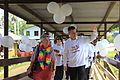 Daru General Hospital acting CEO Sister Joseph and Parliamentary Secretary for Pacific Island Affairs, Senator the Hon Matt Thistlethwaite approach the new TB and Isolation ward at Daru General Hospital (10691204806).jpg