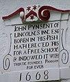 Date stone, Old Grammar School - geograph.org.uk - 929706.jpg