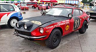 International Championship for Manufacturers - Herrmann's 1971 Safari Rally -winning Datsun 240Z.