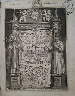 Nicolas Trigault - De Christiana expeditione apud Sinas, by Nicolas Trigault and Matteo Ricci, Augsburg, 1615.