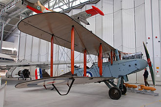 De Havilland - A de Havilland Airco DH9 on display at the Imperial War Museum Duxford in 2008