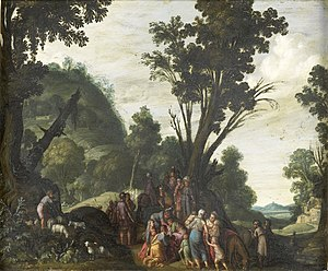 The meeting of Jacob and Esau